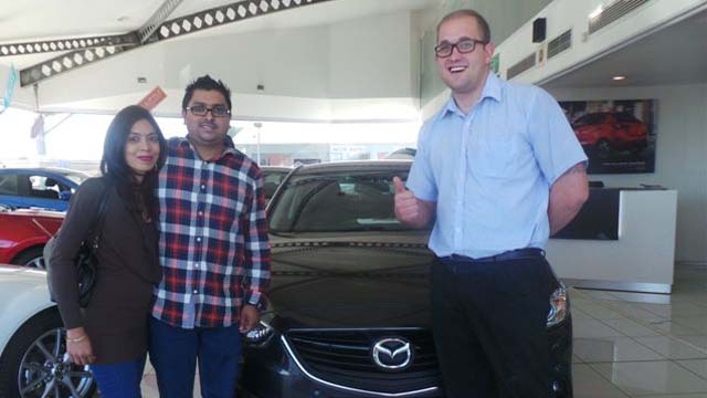 CMH Mazda Umhlanga Deliveries Mr Nivash Munilal