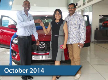 CMH Mazda Umhlanga Deliveries October 2014