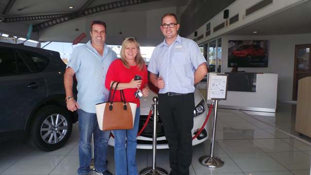 CMH Mazda Umhlanga Deliveries Mr and Mrs Elam