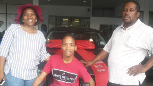 CMH Mazda Durban Deliveries Ronald Molomo and Family