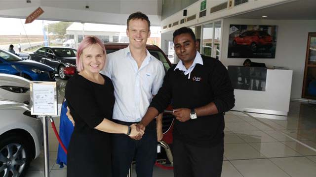 CMH Mazda Umhlanga Deliveries Mr and Mrs Ten Bokum