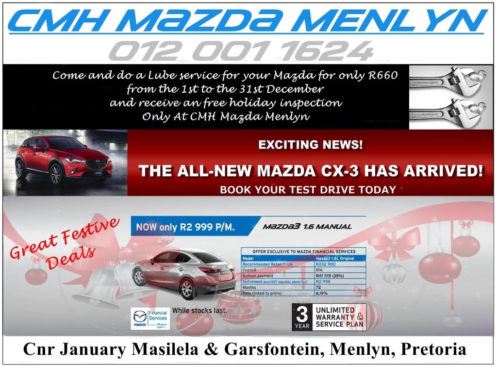 Mazda Menlyn Christmas Deals