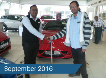 CMH Mazda Umhlanga Deliveries – September 2016