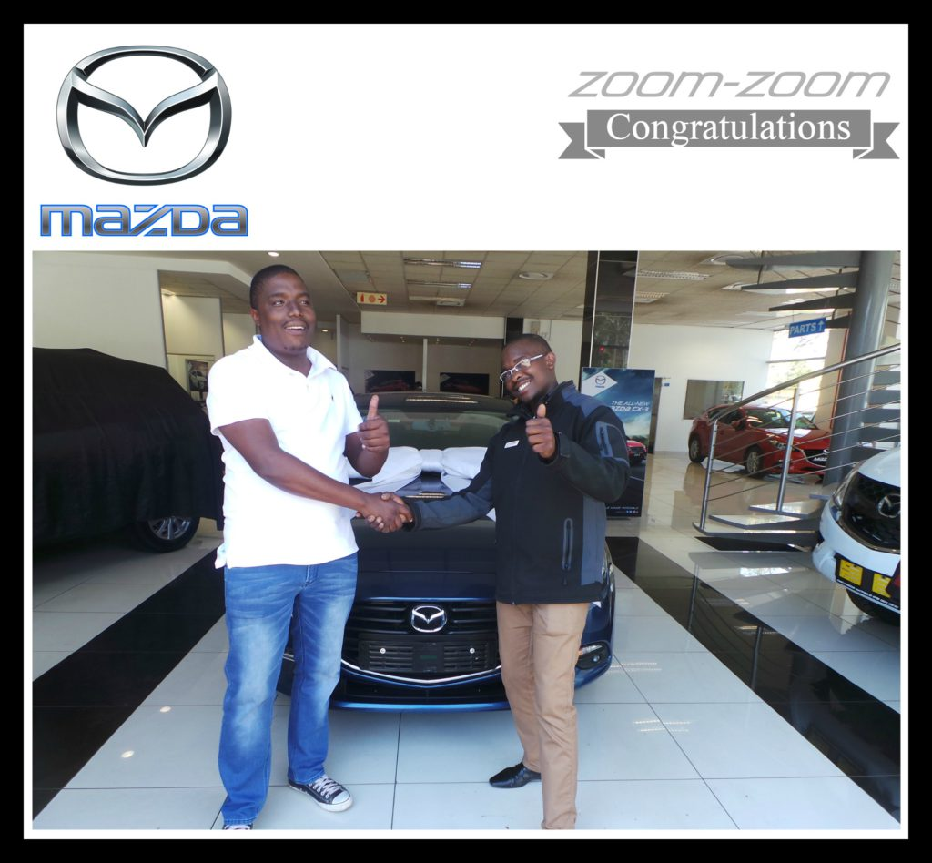 This is what Mazda is all about. Smiles, sharing memories with the people close to us and becoming one big family. Mr Rakgatsi`s friend was even more stoked to take photos and enjoying the delivery of Mr Rakgatsi`s brand new Mazda3. Congratulations on this beautiful Mazda3. This is the first Mazda3 Facelift to leave our dealership and we know you will take good care of her. We wish you plenty of save and happy miles with this head turner. Thanks for blessing us with your business and for choosing Mazda Pretoria to get you, your dream car.