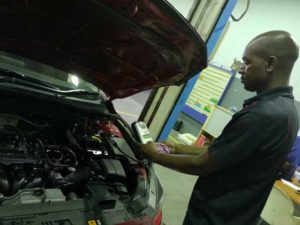 CMH Mazda Menlyn- Checking-batery-output