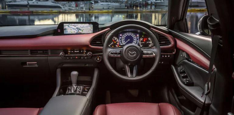 CMH Mazda Randburg- Red Mazda 3 InteriorView
