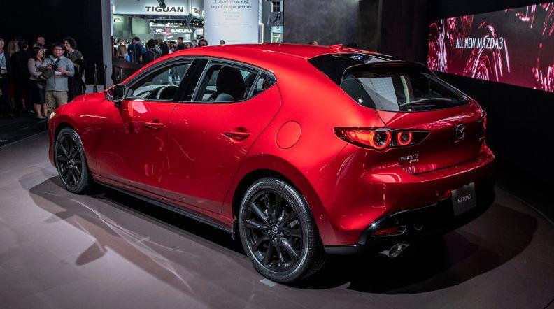 CMH Mazda Randburg- Red Mazda 3 Rear Side View