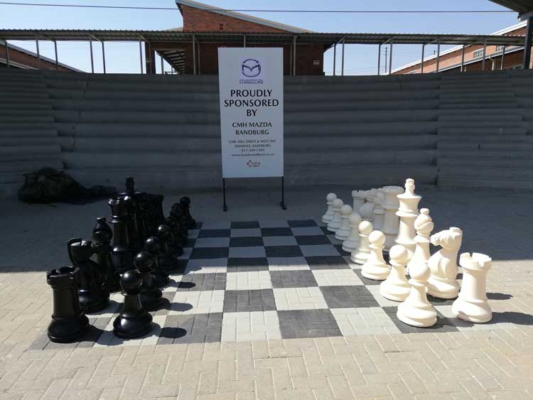 Adopt a school - Human size chess board