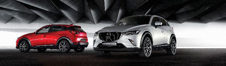 CMH Mazda Menlyn - Mazda CX-3 Red and Gray color.