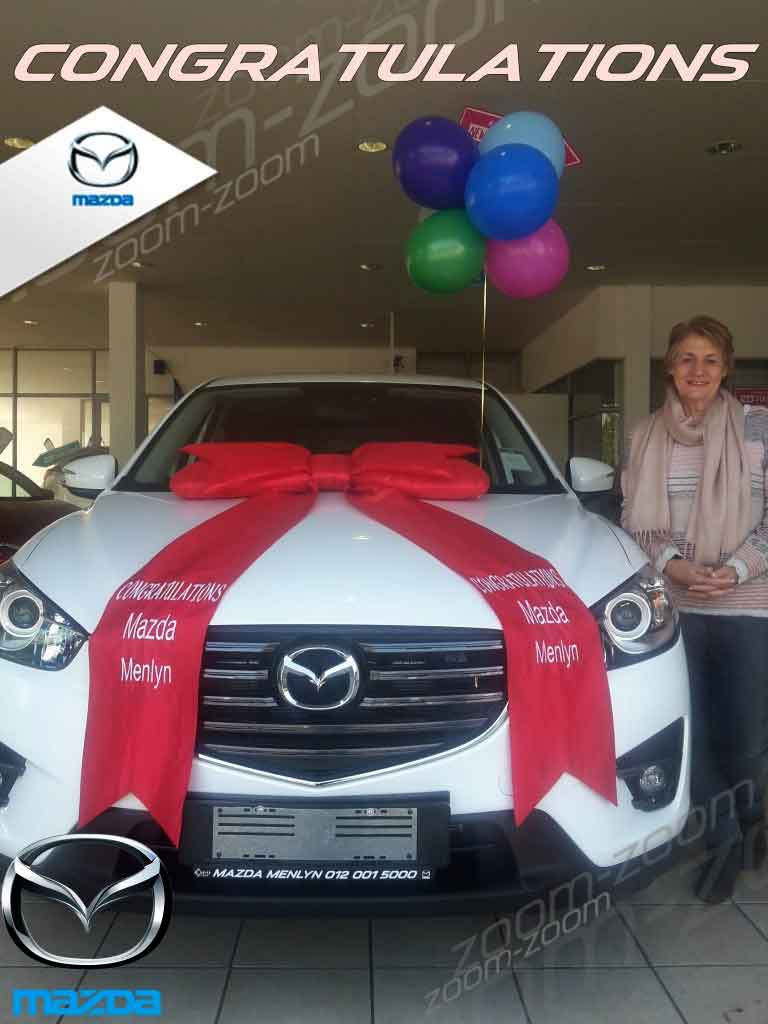 CMH Mazda Menlyn Deliveries Ms Heimien Gous