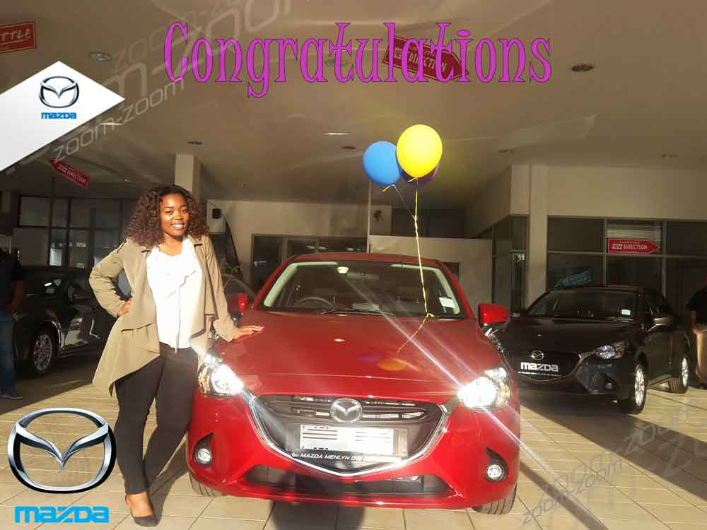 CMH Mazda Menlyn Deliveries Ms N Sibiya