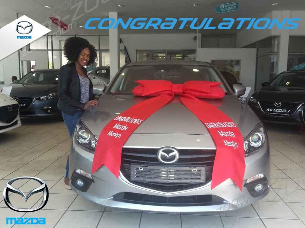 CMH Mazda Menlyn Deliveries Ms Nqobile Cele